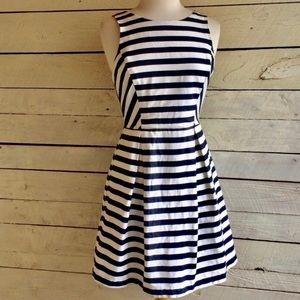 Jealous Tomato Blue & white striped dress